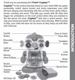 cogsley learning robot instruction manual my collection copy [ 900 x 1131 Pixel ]