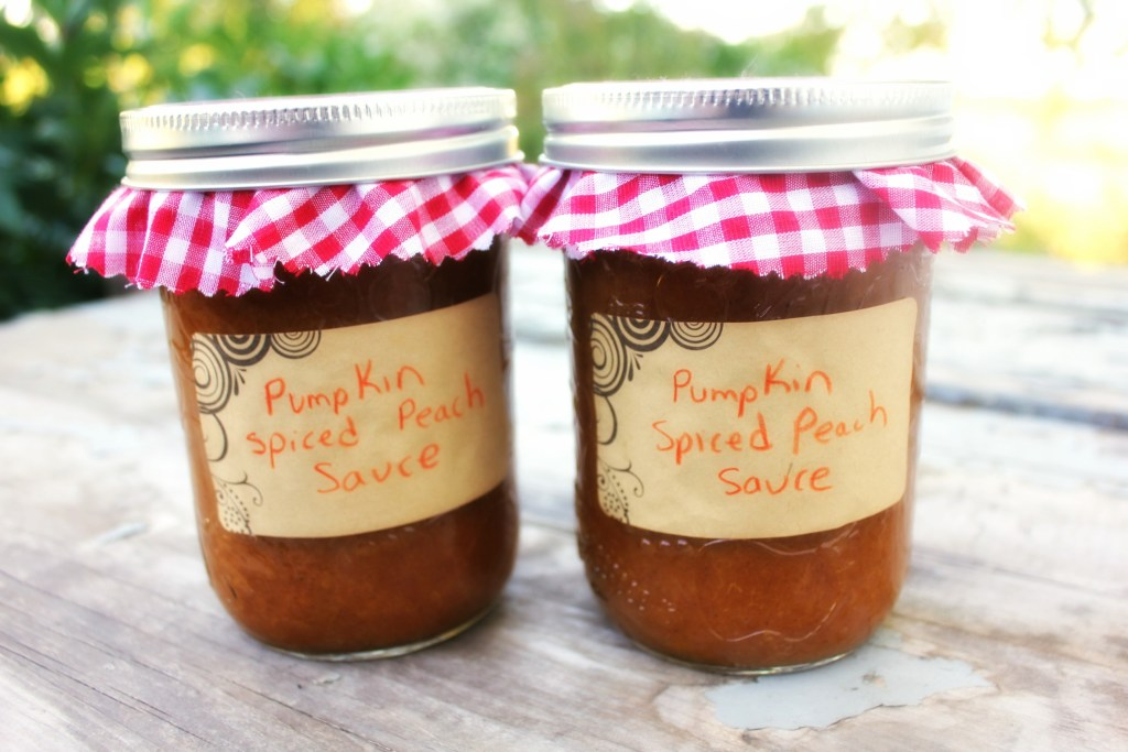pumpkin spiced peach sauce
