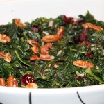 Kale with Cranberries and Pecans