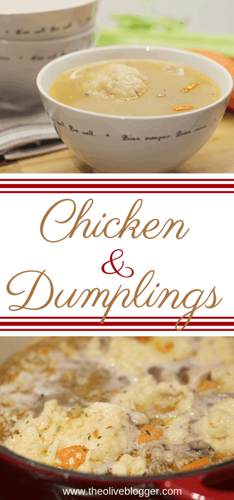 Easy Homemade Chicken and Dumplings - the perfect comfort food dish for cooler days ahead! #ChickenRecipes #ChickenandDumplings #DinnerRecipes