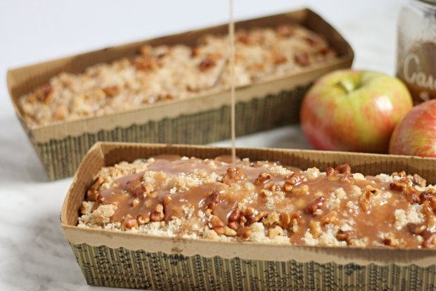 Caramel Apple Coffee Cake with Caramel Drizzle