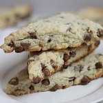 Stacked Chocolate Chip Scones