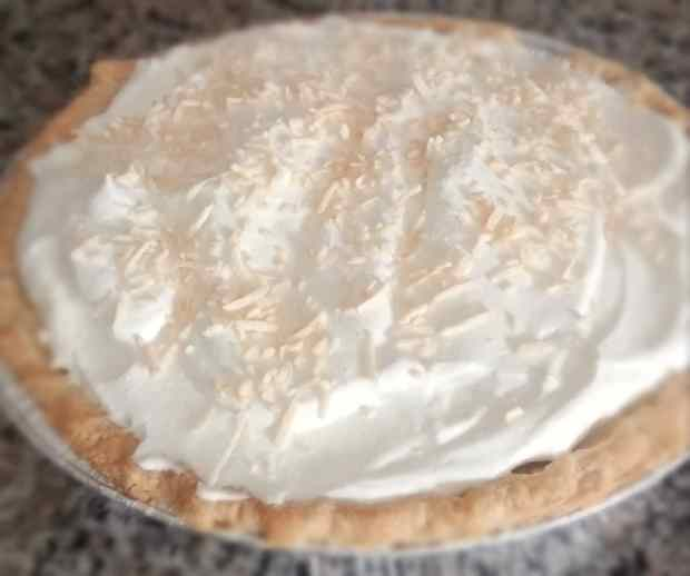 Coconut Cream Pie with Toasted Coconut
