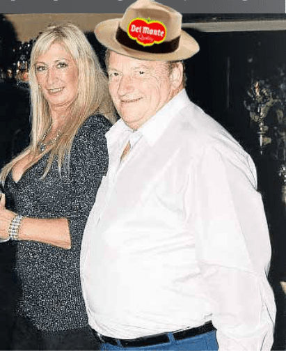 The man from Del Monte… Nigel Goldman found in disguise in English village
