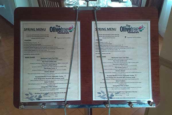 Olive Tree Spring menu