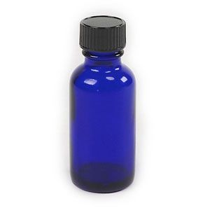 1 oz Blue Cobalt Bottle with Lid