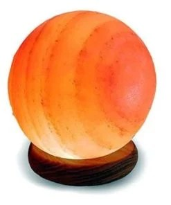 "Sphere Shape Globe Salt Lamp - Large Saturn 6.5"" to 7"" Diameter"