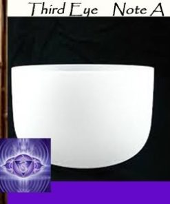 A | Third Eye Chakra Crystal Singing Bowls