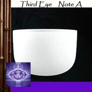 A | Third Eye Chakra Crystal Singing Bowls
