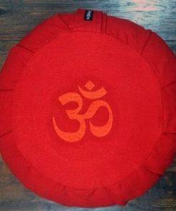 Zafu Round OM Meditation Pillow- Red