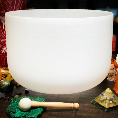 "18"" F crystal singing bowl"