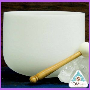 NOTE A# CRYSTAL SINGING BOWL PINEAL GLAND CHAKRA 10 INCH QUARTZ SINGING BOWL