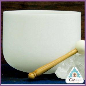 CHAKRA ZEAL NOTE G# 10 INCH CRYSTAL SINGING BOWL WITH O RING AND STRIKER FREE SHIPPING THE OM SHOPPE
