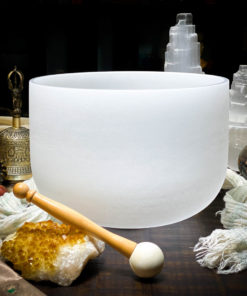E Quartz Crystal Singing Bowl The OM Shoppe Sarasota Florida Size 10 Inch Singing Bowl