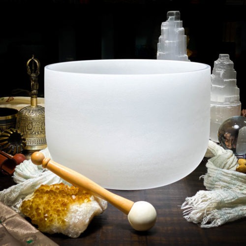 E Quartz Crystal Singing Bowl The OM Shoppe Sarasota Florida Size 10 Inch Singing Bowl