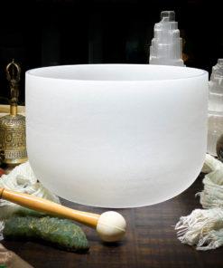 F Quartz Crystal Singing Bowl The OM Shoppe Sarasota Florida Size 10 Inch Singing Bowl