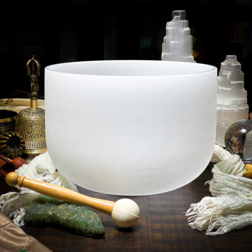 F Quartz Crystal Singing Bowl The OM Shoppe Sarasota Florida Size 10 Inch Singing Bowl