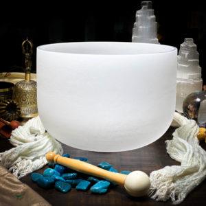 G Quartz Crystal Singing Bowl The OM Shoppe Sarasota Florida Size 10 Inch Singing Bowl