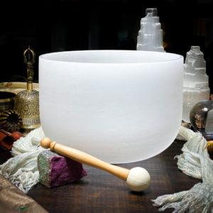 B Quartz Crystal Singing Bowl The OM Shoppe Sarasota Florida Size 10 Inch Singing Bowl