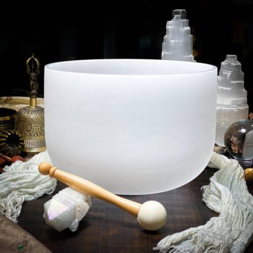 A Quartz Crystal Singing Bowl The OM Shoppe Sarasota Florida Size 10 Inch Singing Bowl