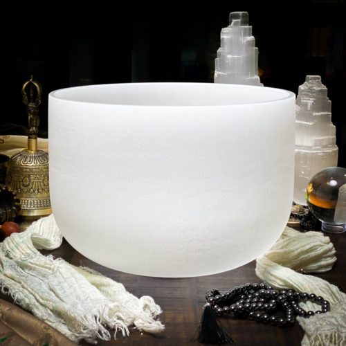 C# Quartz Crystal Singing Bowl The OM Shoppe Sarasota Florida Size 10 Inch Singing Bowl