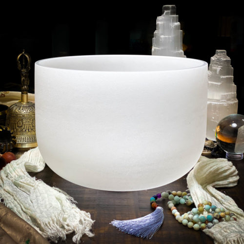 F# Quartz Crystal Singing Bowl The OM Shoppe Sarasota Florida Size 10 Inch Singing Bowl
