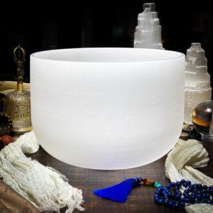 G# Quartz Crystal Singing Bowl The OM Shoppe Sarasota Florida Size 10 Inch Singing Bowl