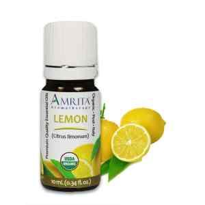 Amrita Essential Oil Lemon - Organic EO-10mL at The OM Shoppe in Sarasota, FL