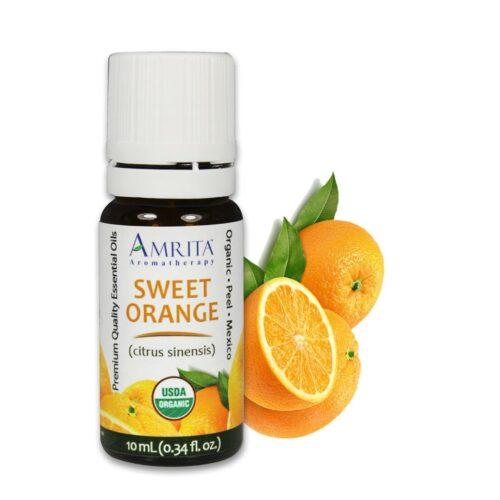 Amrita Essential Oil Sweet Orange - Organic EO-10mL