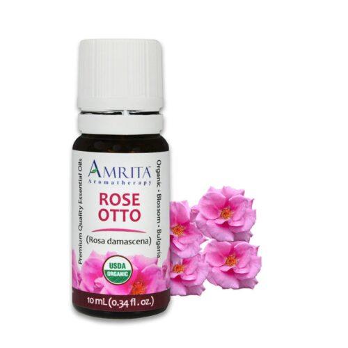 Amrita Essential Oil Rose Otto - Organic EO-10mL - the OM Shoppe, Sarasota, FL