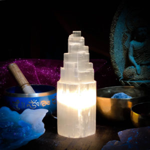 Selenite Lamp Small 8""