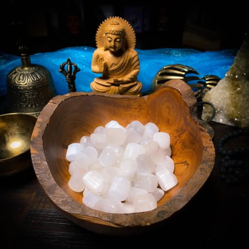 Selenite Tumbled Crystal for Clearing Energy