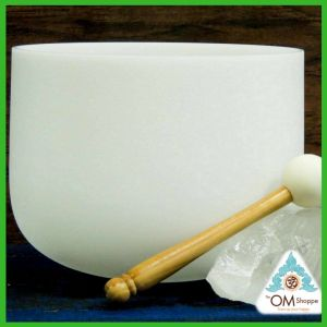CHAKRA HIGH HEART NOTE F#a 9 INCH CRYSTAL SINGING BOWL WITH O RING AND STRIKER FREE SHIPPING THE OM SHOPPE