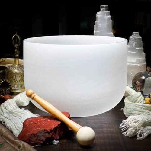 C Quartz Crystal Singing Bowl The OM Shoppe Sarasota Florida Size 10 Inch Singing Bowl