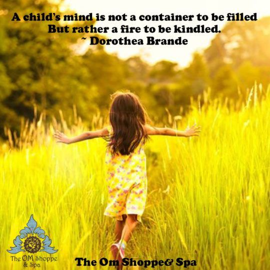 A child's mind is not a container to be filled but rather a fire to be kindled. - Dorothea Brande