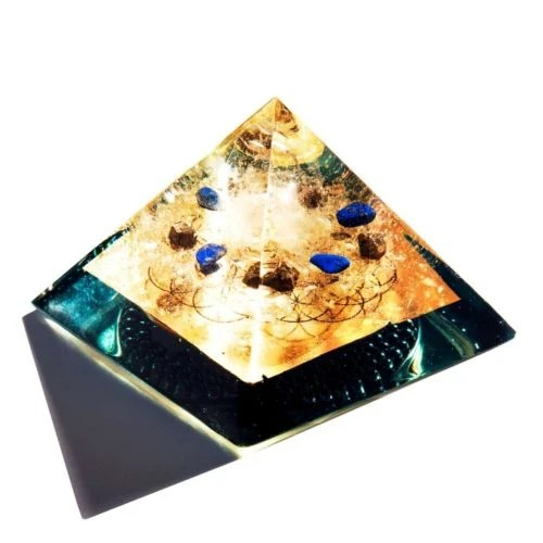 Orgone Generator Medium The OM SHoppe Medium Brazillian quartz, Lapis lazuli, mica, FOL