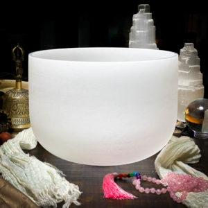 D# Quartz Crystal Singing Bowl The OM Shoppe Sarasota Florida Size 10 Inch Singing Bowl