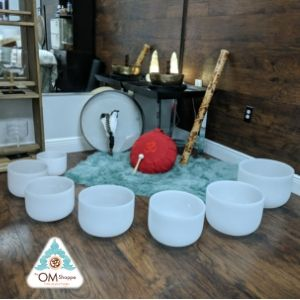 Crsytal Singing Bowls at theomshoppe.com