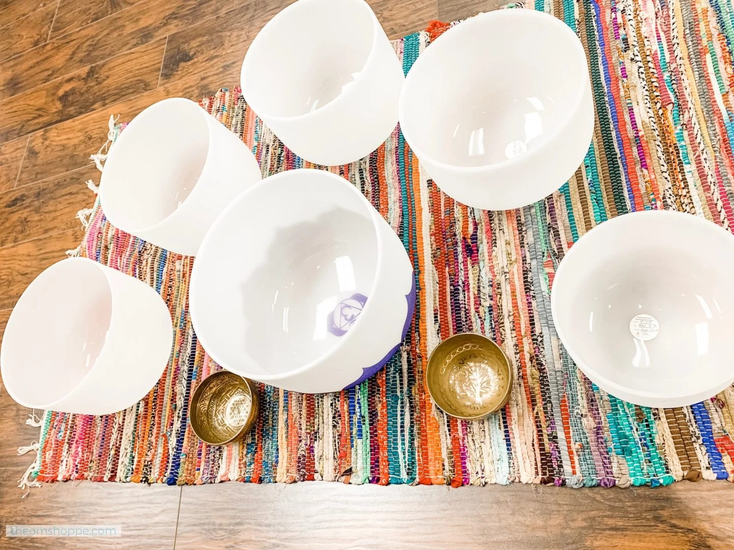crystal and tibetan singing bowls sharps set