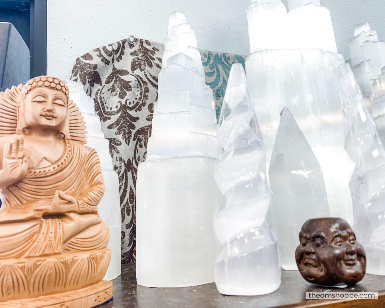 buddha and selenite