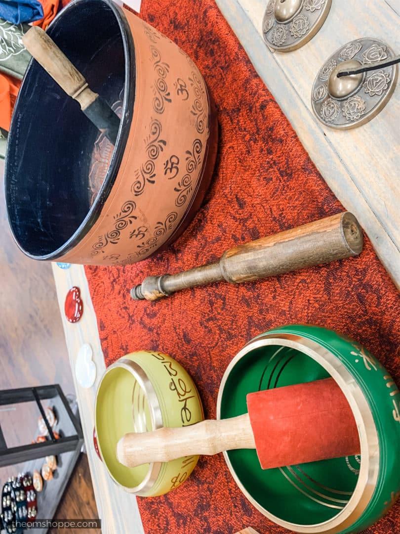 hand-carved tibetan bowls