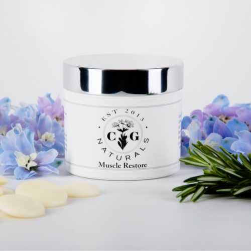 Muscle Restore w Cocoa Butter, Pine, and flowers