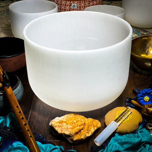 E   Solar Plexus Chakra Crystal Singing Bowls