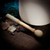 Crystal Singing Bowl Mallet Double-sided Wooden Suede and Rubber