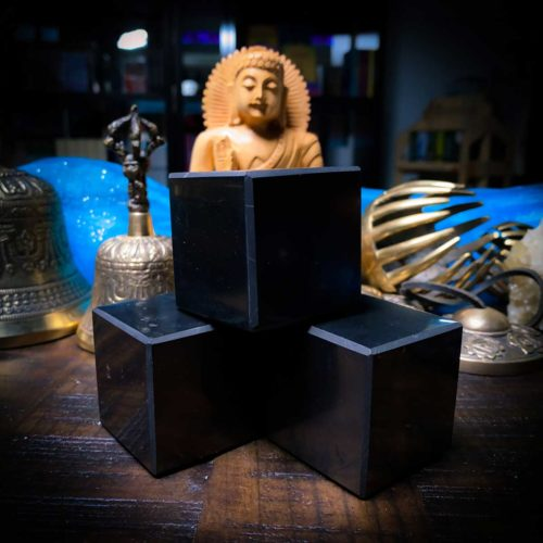 Shungite Cube square at The Om Shoppe