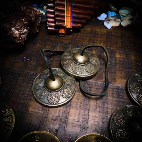 Tingshas with Chakra Symbols