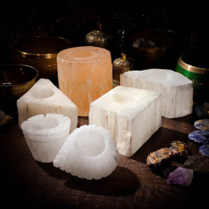 Selenite Candle Holders Variety Image