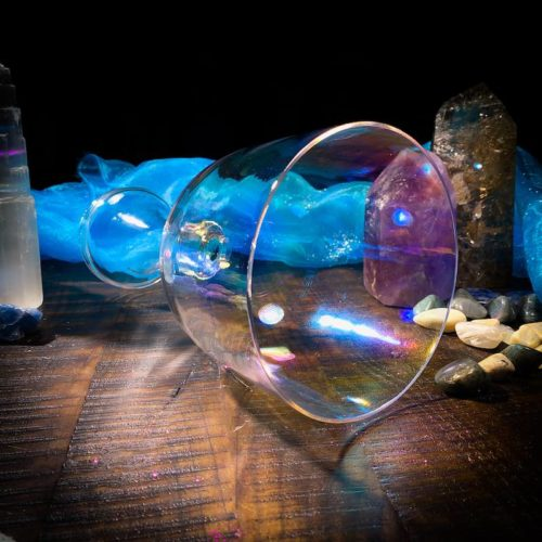 Grail Handle Rainbow Crystal Alchemy Singing Bowl
