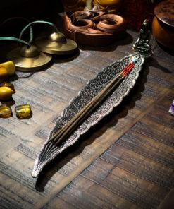 Long Leaf Incense Holder The OM Shoppe