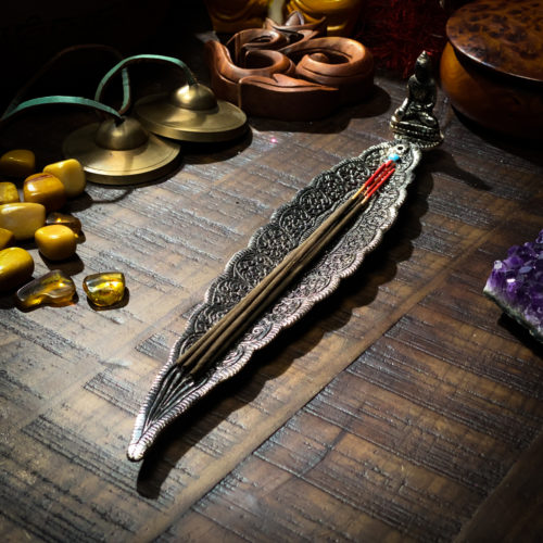 Long Leaf Incense Holder The OM Shoppe